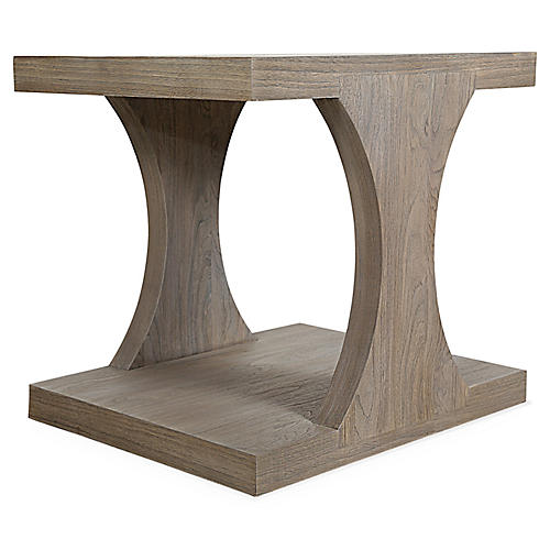 Adeline Side Table, Driftwood