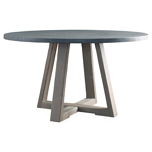 """Finlay 54"""" Dining Table, Driftwood"""