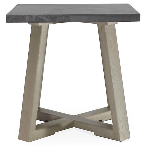 Saratoga Side Table, Driftwood