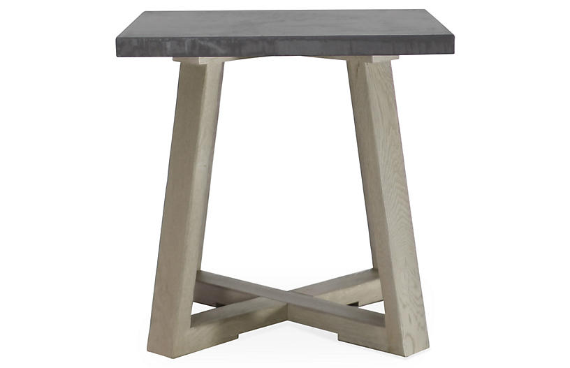 Saratoga Side Table, Driftwood