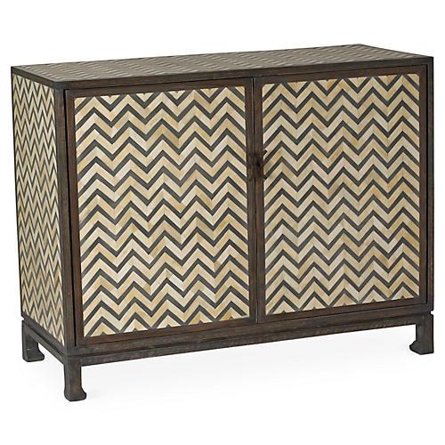 Keeley Herringbone Cabinet, Charcoal