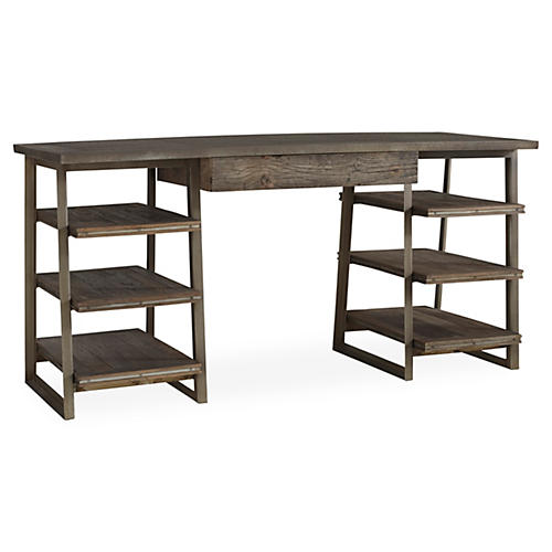 Blaine Tiered Desk, Natural