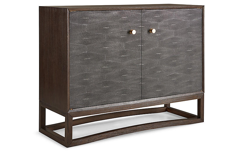 Viceroy Faux-Shagreen Cabinet, Tobacco