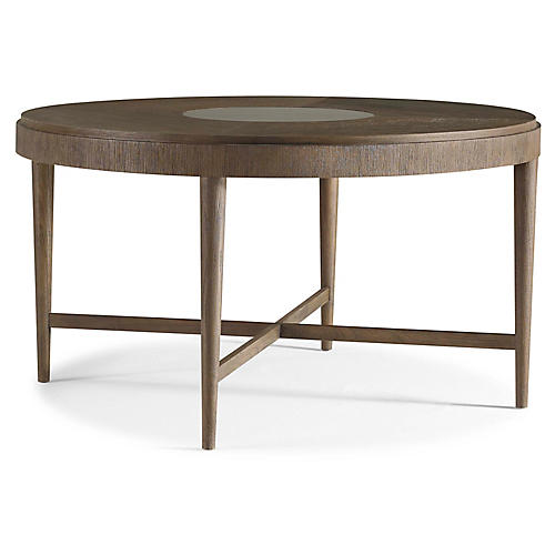 Jasper Round Dining Table, Brown