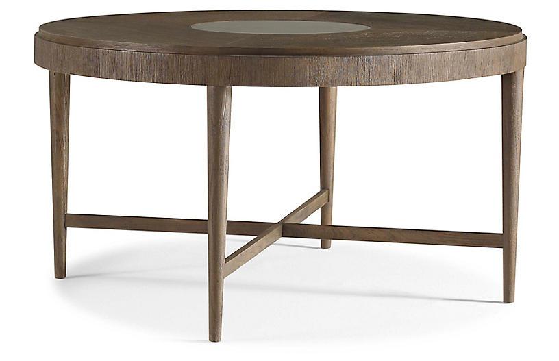 Jasper Round Dining Table, Brown