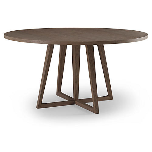 Palmer Round Dining Table, Driftwood