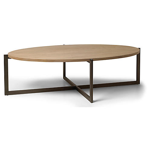 Larkspur Coffee Table, Beach/Gunmetal