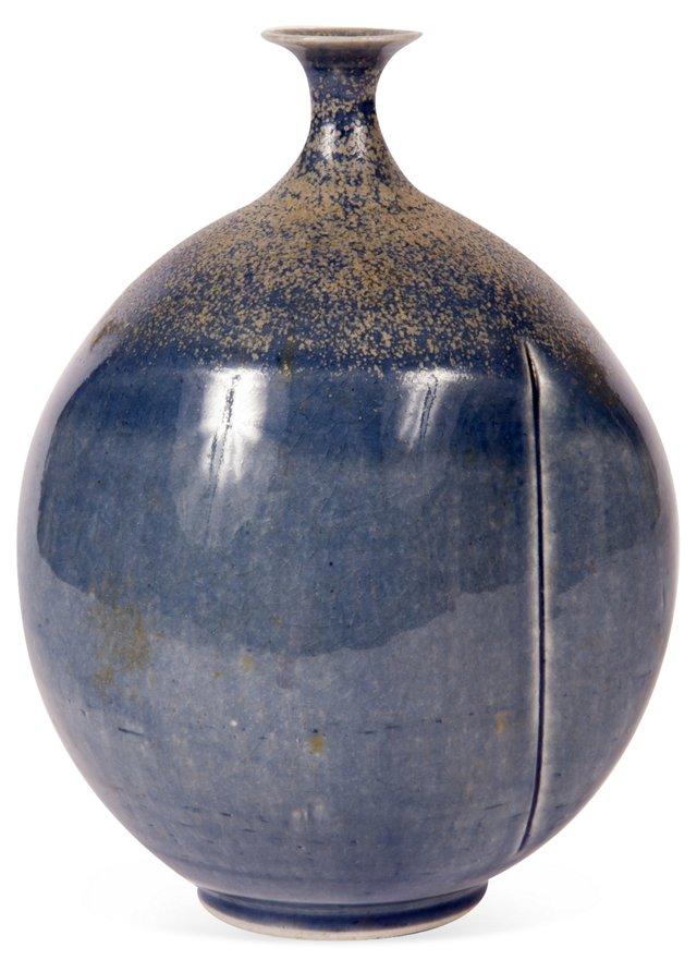Blue Ceramic Bud Vase