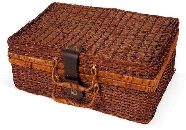 Hinged Woven Basket