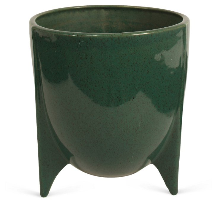 Green Glaze Planter