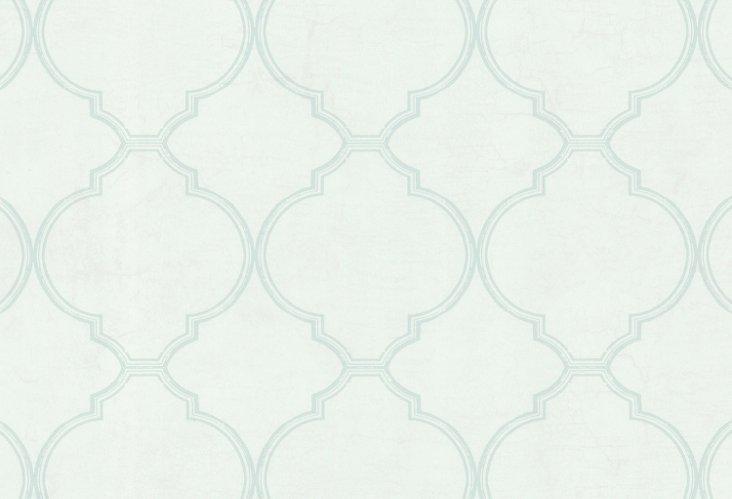 Trellis Pattern Over Marble, Sage/Pearl