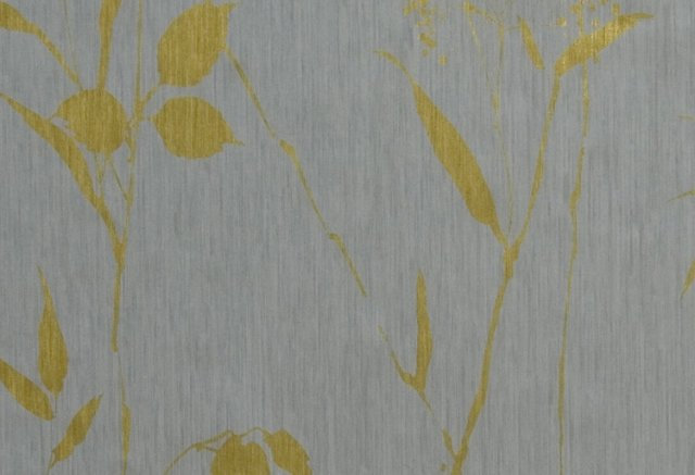 Bamboo & Leaves, Silver/Gold