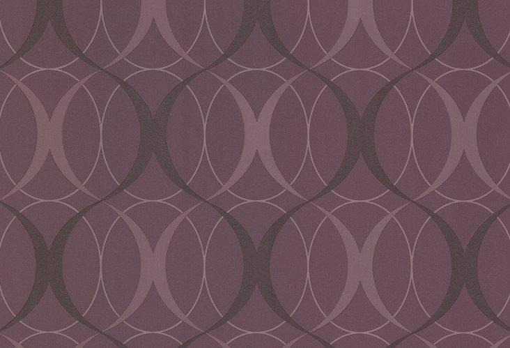 Circulate Retro Orb Wallpaper, Purple
