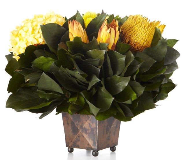 Banksia & Protea in Vessel, Preserved