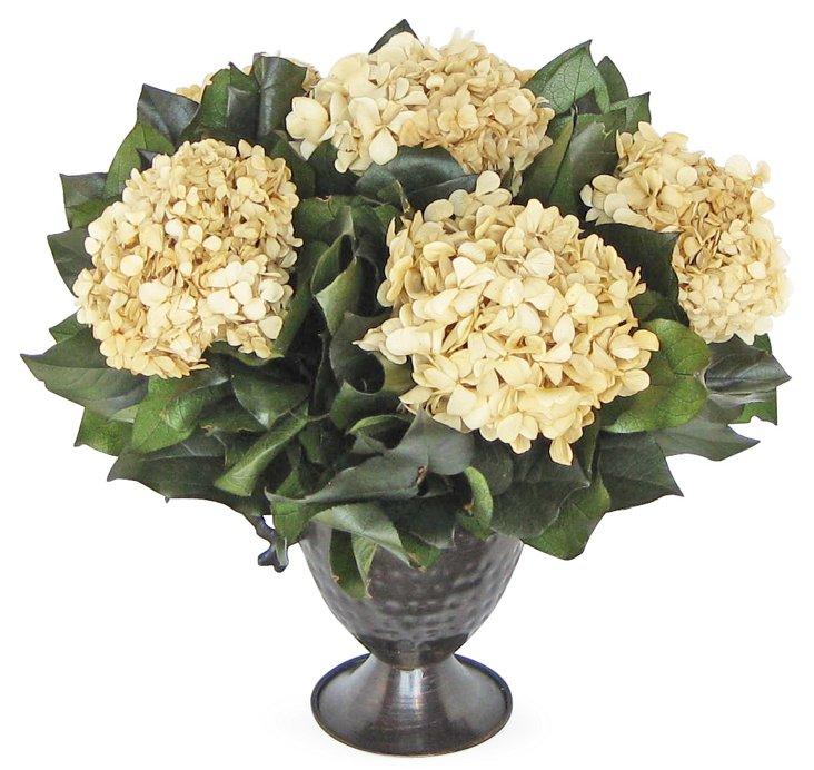 """15"""" Hydrangea in Vase, Preserved"""