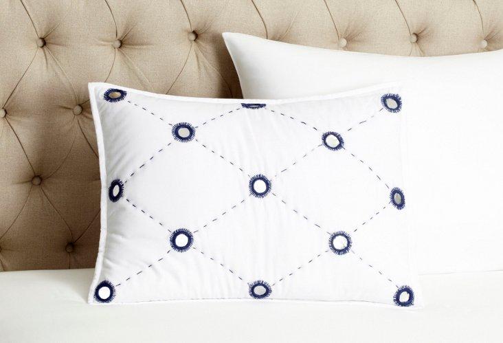 """Sheesha Mela 16"""" x 20"""" Pillow, Indigo"""