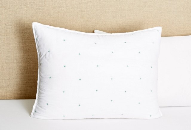 Star Quilted Sham, Turquoise