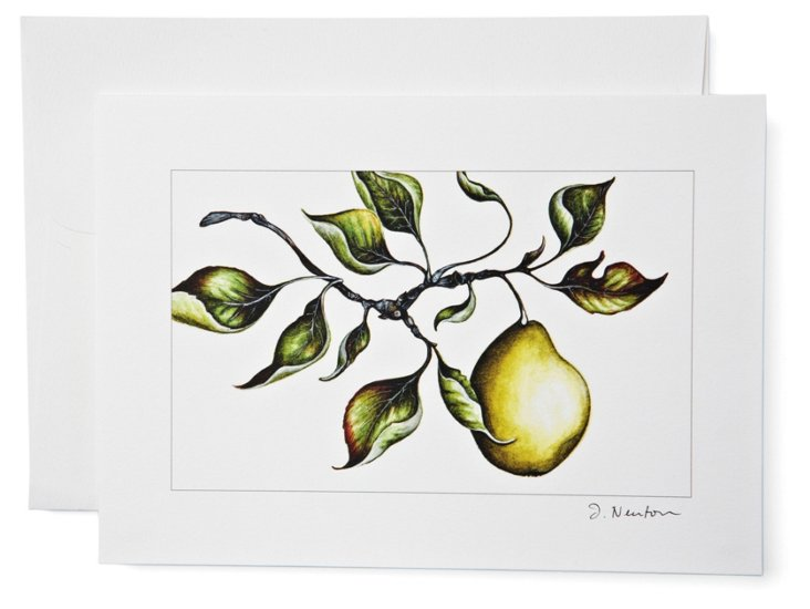 S/12 Note Cards, Pear