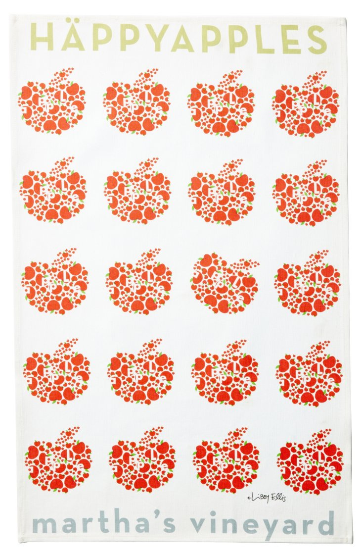 Happy Apples Tea Towel