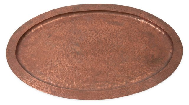 Hand-Wrought Copper Tray