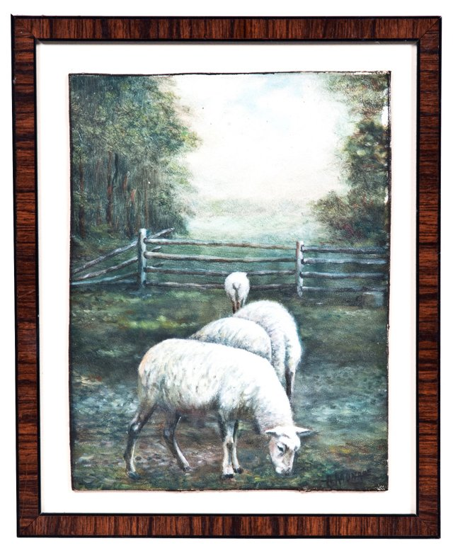 Lamb Oil Painting
