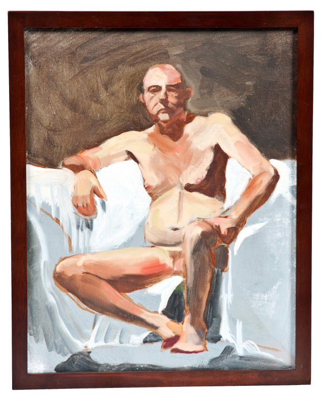 Oil Painting, Nude Man