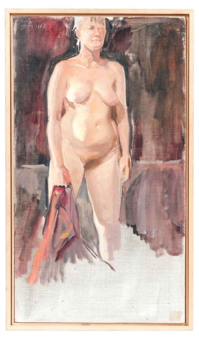 Oil Painting, Woman w/ Towel