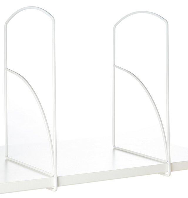 "S/4 White Shelf Dividers, 13"" Tall"