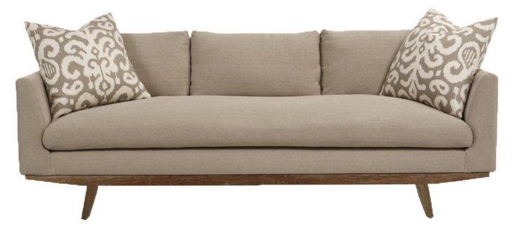 Carmel Linen Sofa, Oatmeal