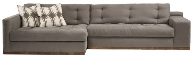 Colton Left-Facing Sectional, Stone