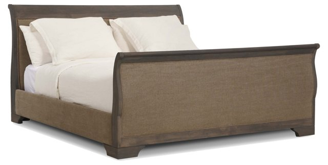 Laurent Frame Bed, Taupe