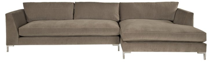 Grant Right-Facing Sectional, Gray Taupe