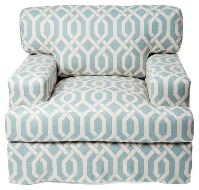 Littlefield Cotton Club Chair, Baby Blue