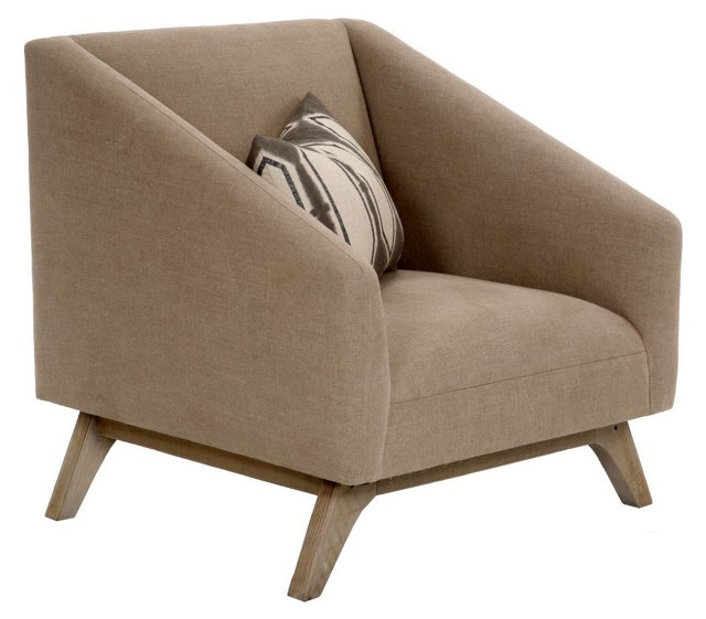 Anna Linen Chair, Khaki