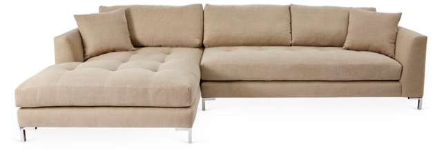 Grant Left-Facing Sectional, Beige