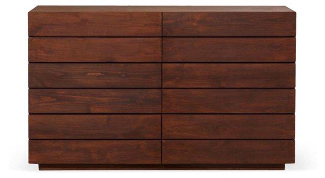 Laguna 6-Drawer Dresser, Brown Wash