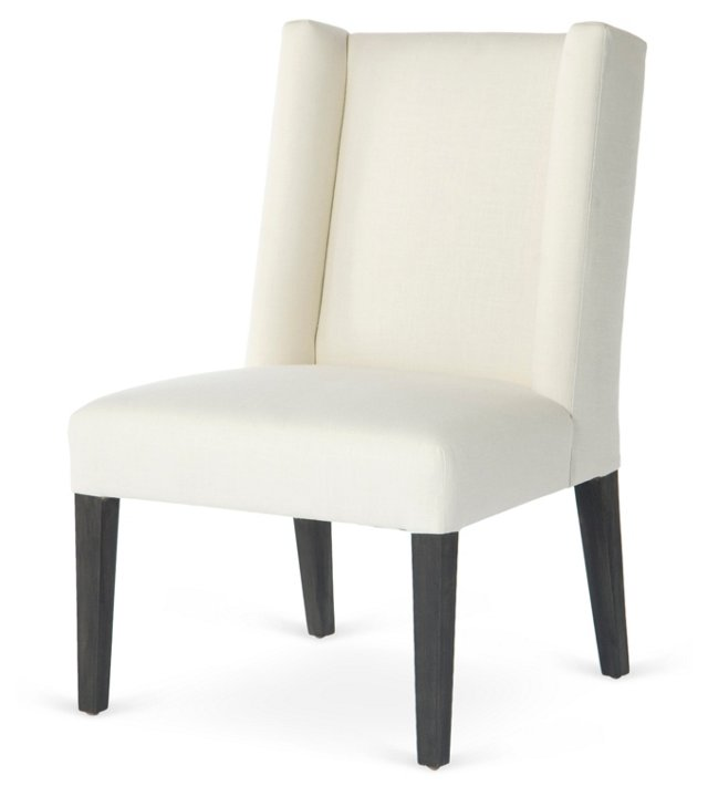 Campbell Side Chair, White