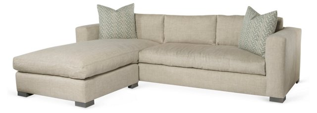Edith Reversible Sectional, Oatmeal