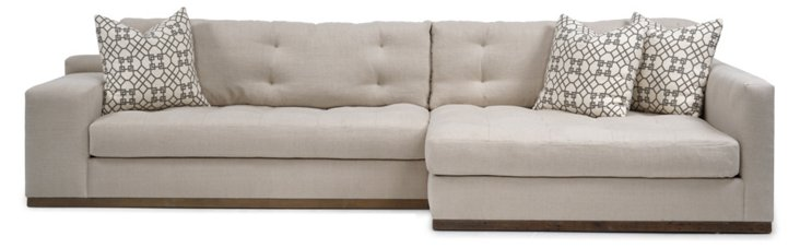 Colton Right-Facing Sectional, Vanilla
