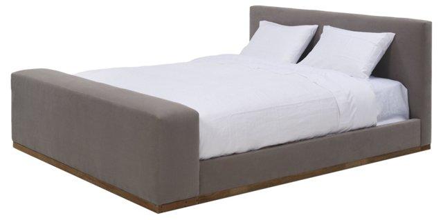 Bradford Linen Bed, Stone