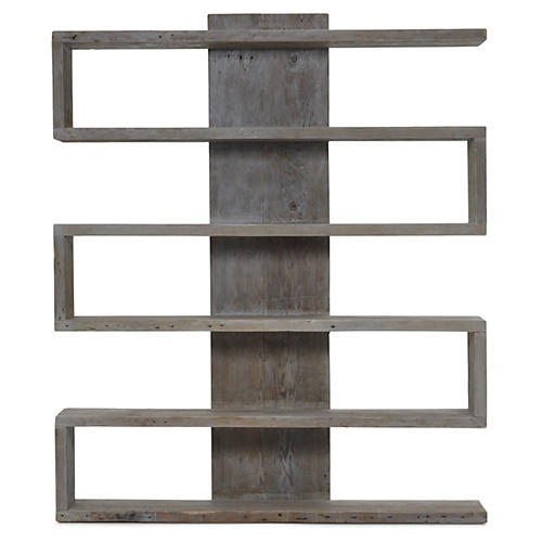 Harrison Bookcase, Graywash