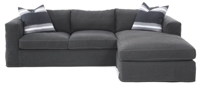 Edith Reversible Sectional, Charcoal