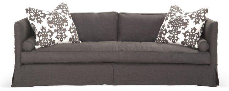Skirted Dunsmier Sleeper Sofa, Charcoal