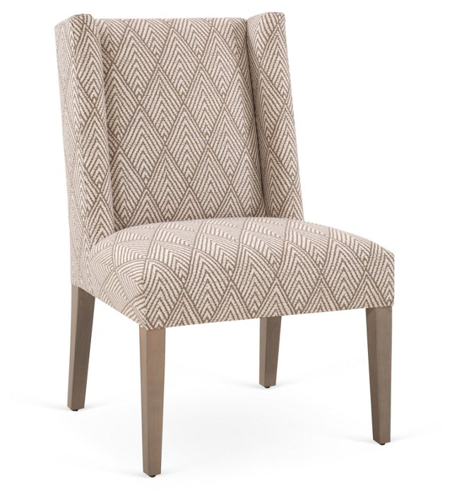Campbell Cotton Side Chair, Tusk