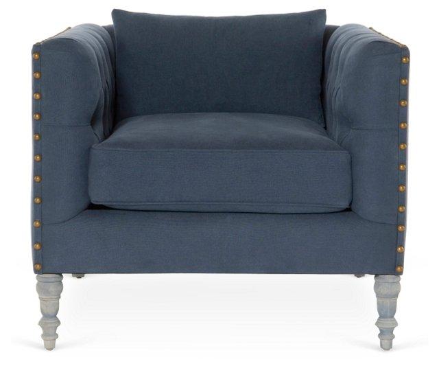 Napa Linen Chair, Blue