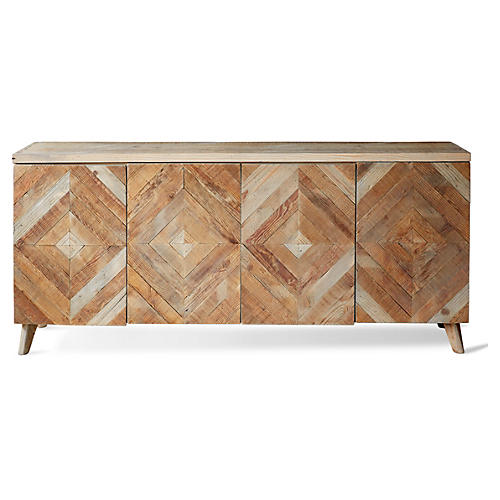 "Garrett 80"" Sideboard, Natural"