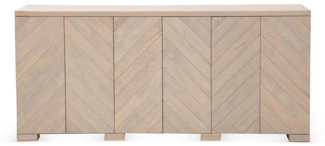 "Penn 80"" Maple Sideboard, Whitewash"