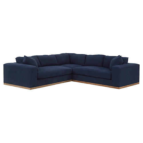 Francesca Sectional, Indigo Linen