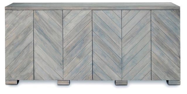 "Penn 80"" Sideboard, Light Gray Wash"