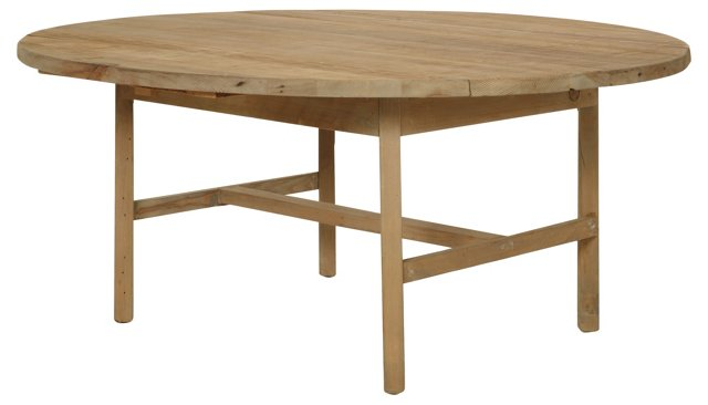 "Thea 70"" Dropleaf Dining Table, Natural"